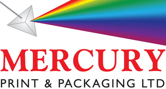 Mercury Print and Packaging Logo